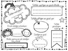 Okula dönüş – Holiday and camping ideas Kindergarten Activities, Activities For Kids, English Activities, English Classroom, Notebook, Bullet Journal, Kids Crafts, How To Plan, Holiday