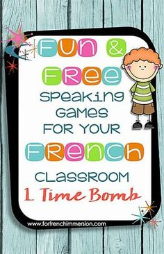 Fun Speaking Games For Your French Classroom: Time Bomb Fun Speaking Games for your French Classroom: part 1 – time bomb – use this game to get your students to practice vocabulary, grammar topics and structures, and even math! Learning French For Kids, Ways Of Learning, French Language Learning, Learning Spanish, Spanish Language, French Games For Kids, Second Language, Spanish Activities, Learning Italian