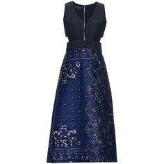 Burberry Prorsum Patchwork paisley-print midi dress ($3,485) ❤ liked on Polyvore featuring dresses, paisley print dress, mid calf dresses, sweetheart dress, print midi dress and bohemian dress