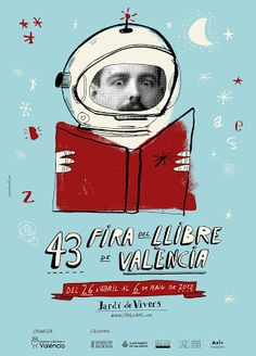 43rd Valencia #Book #Fair #poster by César Barceló.