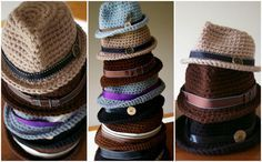 How To Crochet Classic Fedora Hat - http://crochetblog.net/how-to-crochet-classic-fedora-hat/