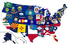 Great map! state flags