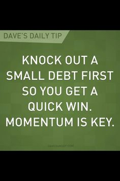 Dave Ramsey---Yes! 1st debt gone.... gotta keep the momentum going!