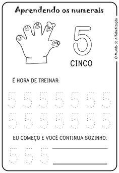 Exercícios para Contar com Os Dedos da Mão                                                                                                                                                                                 Mais
