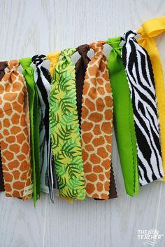 Jungle Fabric Bunting FREE Shipping Jungle Garland