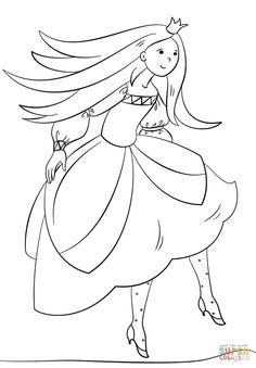 Dancing Princess Coloring Pages Through The Thousands Of Pictures On Internet Concerning We Picks Top Choices