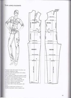 Barbie Vintage, Vintage Sewing, Jumpsuit Pattern, Pants Pattern, Bodice Pattern, Pattern Cutting, Pattern Making, Clothing Patterns, Sewing Patterns