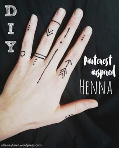 DIY: Modern Pinterest inspired Henna, graphic pattern, easy to make yourself!
