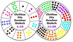 number wheel clothespin game