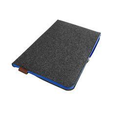 POKROWIEC NA LAPTOPA 02 79 pln grafitowy filc niebieski zamek #pokrowiec #etuimacbook
