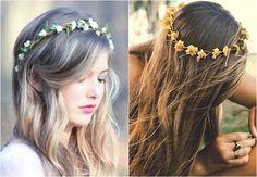 tiaras de cabelo de flores - Pesquisa Google