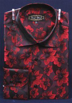 Daniel Ellissa Men's Fashion Dress Shirt - Fancy Floral Print - Clothing Connection Online