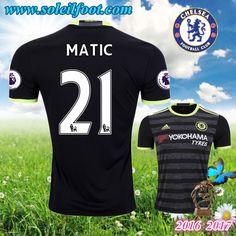 Maillot Du FC Chelsea (MATIC 21) Exterieur 2016-2017 Pas Cheres