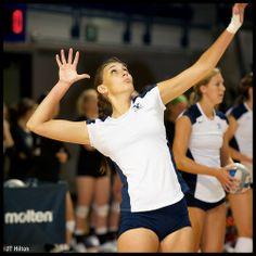 _JTH5620, #4 Kathryn LeCheminant serves (BYU Volleyball)