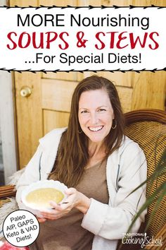 If you're on a special diet like GAPS, AIP, or Paleo, you know it can get boring. You feel like you're eating the same old soup day after day, right? Yet... what if I told you there are simple ways (and easy recipes) to make amazing soups and stews that are highly nutritious with practically limitless variety? There's a way!!! Click to learn more about my friend's new cookbook with 80 delicious, healing soup and stew recipes, plus 7 soup-making secrets to up your game! #recipes #easy #healthy #s Gaps Diet Recipes, Whole Food Recipes, Game Recipes, Keto Recipes, Best Healthy Soup Recipe, Healing Soup, What Recipe, Bowl Of Soup, New Cookbooks