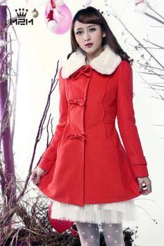 2013 Winter Fashion Sweet Lapel Woolen Coat