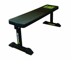RAGE Fitness Flat Bench. Made in the USA. Ships flat and is easy to assemble. Fabricated with heavy-duty 2 inch steel, then powder-coated for extra durability.