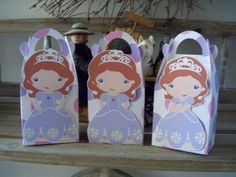 Sofia the First Times Three Inspired Gable Favor Boxes by zbrown5, $14.40