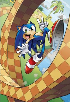 I was gonna do a parody version of this with Rainbow Dash for a new picture. :) This is the cover of Sonic on Free ComicBook Day 2011. I've been drawing Sonic ALOT lately...HEY! Atleast I know what the bottom of his shoes look like!!