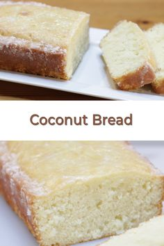If you like quick bread, you will love this coconut bread. It is so easy to make and topped with a hot glaze the seeps down into the bread. Muffin Recipes, Bread Recipes, Baking Recipes, Cake Recipes, Dessert Recipes, Desserts, Dessert Bread, Coconut Bread Recipe, Best Bread Recipe