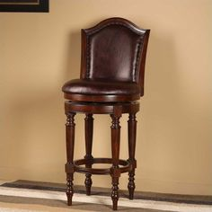 "Lowest price online on all Hillsdale Barcelona 30"" Swivel Bar Stool in Brown Cherry - 4899-830"