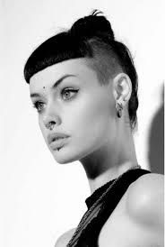 Image result for shaved head with bangs