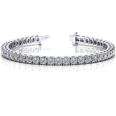 14k Diamond Prong Set Tennis Bracelet