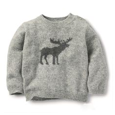 The Little White Company Moose Motif Sweater #christmasjumper