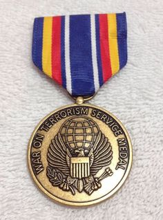 USA Military War on Terrorism Service Medal Badge - 2001-Now