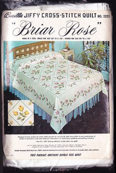 Bucilla Quilt Kit Vintage 1960s Embroidery by LovelyLinensandMore