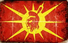 "The Mohawk Nation is one of 5 founding nations of the Iroquois Confederacy formed by the Mohawk, Oneida, Onondaga, Cayuga and Seneca. The Mohawks guarded the territory in the East and became known as the ""Eastern Doorkeepers"". The Mohawk Flag is said to have been designed for all First Nations. The single feather represents ""all of one mind"". Deganawida (The Great Peacemaker) wanted all First Nations Peoples to be under the Great Law of Peace."