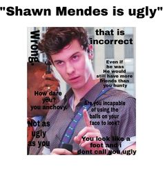 How dare you you anchovy I Love Him, My Love, Shawn Mendes Memes, Chon Mendes, Mendes Army, Funny Memes, Hilarious, Shawn Mendez, Daddy