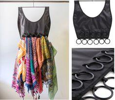 scarf storage   scarf organizer, closet organizer
