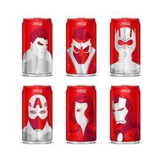 Mini Marvel Coke Cans
