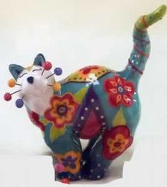 Have a collection of these!  Whimsiclay cats...