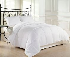 goose alternative down comforter duvet insert size king queen twin reversible - Down Comforter Queen