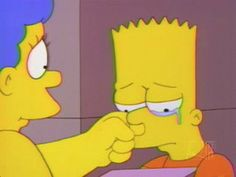 There were times where I just wanted my mom to wipe away my tears and listen to my problems and just help me solve them Simpsons Meme, Simpsons Quotes, Simpsons Art, Simpson Wallpaper Iphone, Sad Wallpaper, Iphone Wallpaper, Cartoon Memes, Cartoon Pics, Cartoons