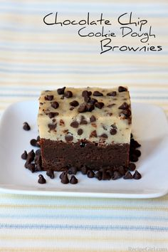 Chocolate chip cookie dough brownies.  Although this recipe has been re-created, I had difficulties making the brownie and cookie dough stay together.  It's a very sweet treat.  A good recipe, but not one that will make its way into my regular repertoire.
