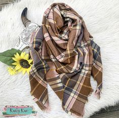Autumn Days Blanket Scarf – Ruby Rue Jewelry & Accessories