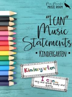 """I Can"" Music Statements {Kindergarten}: Includes 68 ""I can"" statements, a checklist aligned with the NCCAS standards, and more!"