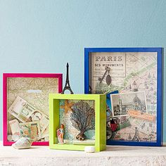 Shadow Box, Drawer Liners and more.  A bunch of good ideas for using maps in crafts.  I love maps so this is made for me.