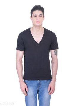 Tshirts Gents deep v/n black tshirt Fabric: Cotton Sleeve Length: Short Sleeves Pattern: Solid Multipack: 1 Sizes: S (Chest Size: 39 in Length Size: 27.5 in)  XL (Chest Size: 45 in Length Size: 29 in)  L (Chest Size: 43 in Length Size: 28.5 in)  M (Chest Size: 41 in Length Size: 28 in)  XXL (Chest Size: 47 in Length Size: 29.5 in) Country of Origin: India Sizes Available: S, M, L, XL, XXL, XXXL   Catalog Rating: ★4.2 (496)  Catalog Name: Fancy Retro Men Tshirts CatalogID_1148441 C70-SC1205 Code: 323-7194981-999