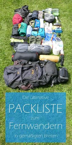 My ultimate packing list for long distance hiking - Urlaubs-Packliste - Camping Camping Packing Hacks, Camping List, Backpacking Tips, Diy Camping, Camping Checklist, Hiking Tips, Camping And Hiking, Travel Packing, Ultimate Packing List