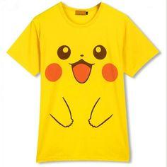 Pokemon Kawaii ピカチュウ Pikachu Short Sleeve T-shirt Top Free Ship SP141130 #amazing #CustomMade