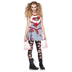 Sexy zombie bikini zombie costumes pinterest homemade zombie zombie cheerleader kids costume solutioingenieria Gallery