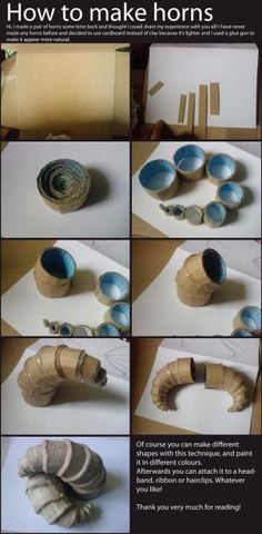 DIY: How to Make Horns by proteamundi                                                                                                                                                      More