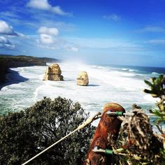 Blue and beautiful Great Ocean Road. #visitvictoria #thegreatoceanroad #australia #road #drive #ocean #naturelovers #blue #apostles #12apostles #portcampbell #nature #scenery #scenic #clouds #sky #fantastic #globaltraveller #traveler by kannan_c http://ift.tt/1ijk11S