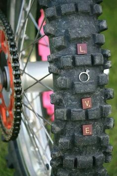 So cute totally gonna do this with his bike! <3