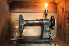 Vintage Sewing Machine Lamp  Repurposed by EastchesterandOrange