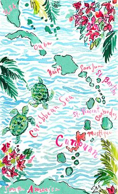 illustration by Lilly Pulitzer print designer Paige Smith Watercolor Wedding Invitations, Custom Wedding Invitations, Lilly Pulitzer Iphone Wallpaper, Nautical Iphone Wallpaper, Wallpaper Praia, Watercolor Illustration, Watercolor Paintings, Lilly Pulitzer Prints, Paige Smith